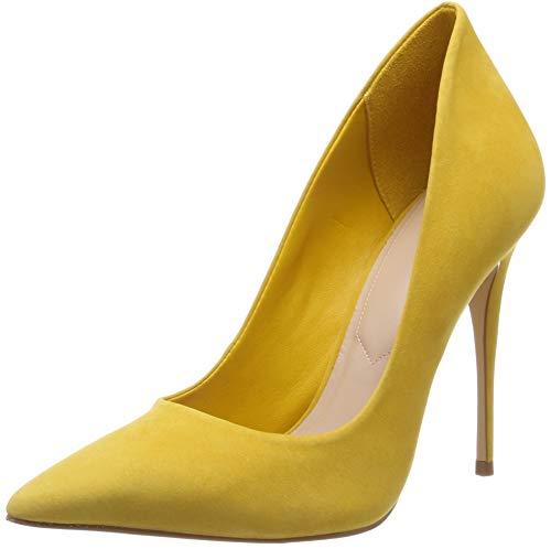 Zapatos amarillos de tacón alto con Punta Cerrada para Mujer
