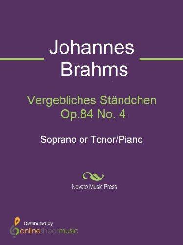 Vergebliches Ständchen Op.84 No. 4 - Score
