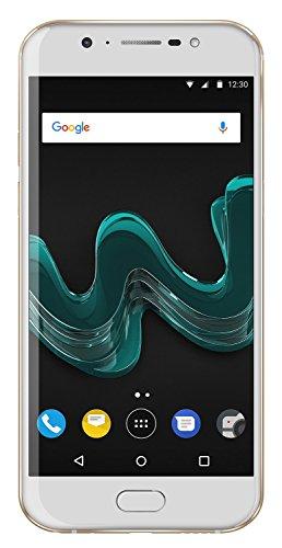 Wiko WIM Gold (Smartphone, 5,5 Zoll FHD, 2x13 MP Dual-Kamera, 16 MP Selfie-Kamera mit Blitz, 4K Video, Video Stabilisator, Android, Fingerabdruck, 64GB ROM/4GB RAM, Snapdragon Octa-Core CPU, 4G, Dual-SIM, Speicher erweiterbar um bis zu 128GB, Quick Charge 3.0)