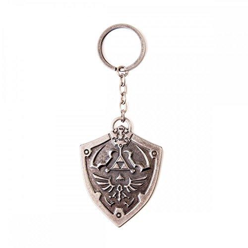 Zelda Sculped Metall | Schlüsselanhänger | in Grau | 100% Metall | Nintendo | Damen Herren Unisex |