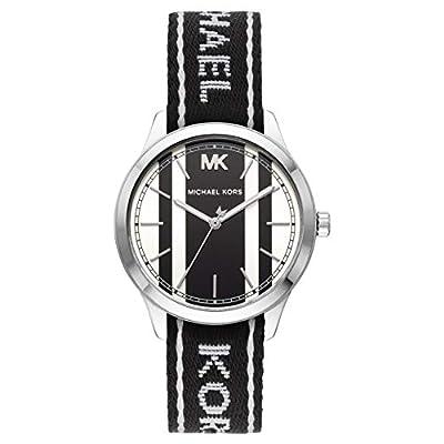 Michael Kors Reloj Analógico para Mujer de Cuarzo con Correa en Tela MK2795