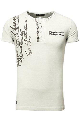 TAZZIO Styler T-Shirt mit Dufflecoatverschluss 154050 Grau
