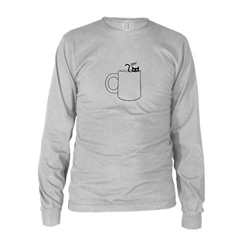 Gimme some more - Herren Langarm T-Shirt, Größe: XXL, Farbe: (Süchtig Koffein Kostüm)