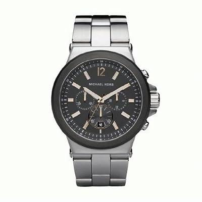 Michael Kors MK8151 - Reloj analógico de cuarzo para hombre con correa de acero inoxidable, color plateado