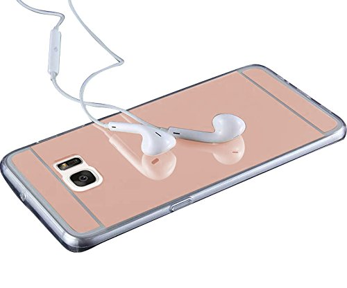 Minto Schutzhülle iPhone 6 Plus / 6S Plus aus weichem Silikon Spiegel Hülle TPU Case Mirror Effect Cover Tasche Rosegold Rosegold
