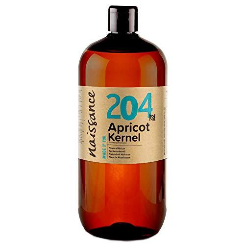 Naissance Olio di Nocciolo di Albicocca - Olio Vegetale Puro al 100%, Naturale, Vegan, Cruelty Free - 1L