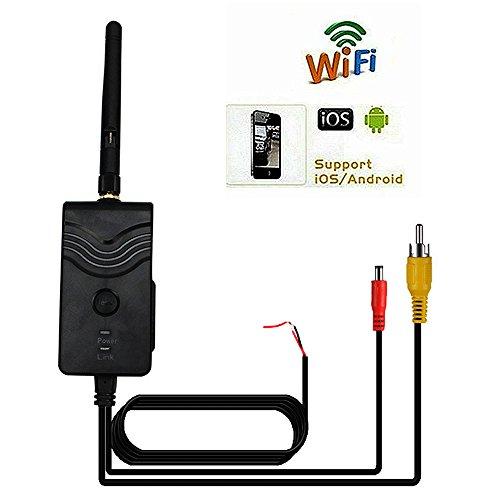Thinkels-tech Émetteur WiFi 2,4Ghz pour caméra de recul de voiture avec affichage de l'image sur smartphone Compatible iPhone (iOS) et Android