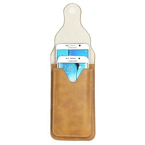 Wkae Case Cover Für Samsung Galaxy S7 / G930 &S7 Rand / G935 &S6 / G920 &S6 Rand / G925, iPhone 6 Plus &6s Plus und andere 5,1-5,5 Zoll Smart Phones Klassik Elefant Textur Vertical Flip Ledertasche Gü Khaki