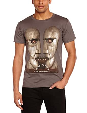Plastic Head Men's Pink Floyd the Division Bell Short Sleeve T-Shirt, Grey, Small
