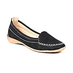 TEN Black Fabric Loafers