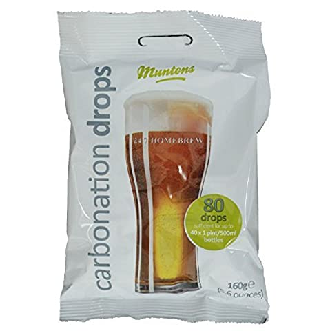 Muntons Carbonation Drops 80 160g Sugar Tablets for priming beer