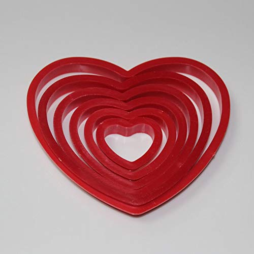 aking Cookie Mold Fondant 6pcs Set Heart Biscuit Plastic Cutting - Cookie Cake Mold Tools Decorating Cake Molds Aroma Mould Plastic Stencil Macaron Stand Baby Cooki Cutte ()
