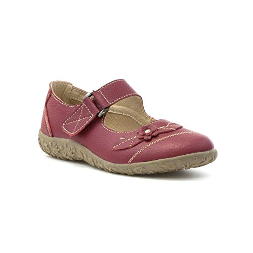 Cushion Walk Womens Red Leather Comfort Bar Shoe - Size 4 UK...