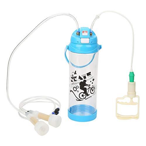 Fdit Tragbare elektrische 3L Melkmaschine Doppelkopf tragbare Plastik Melker Zitzenschalen Kits für Schafziege