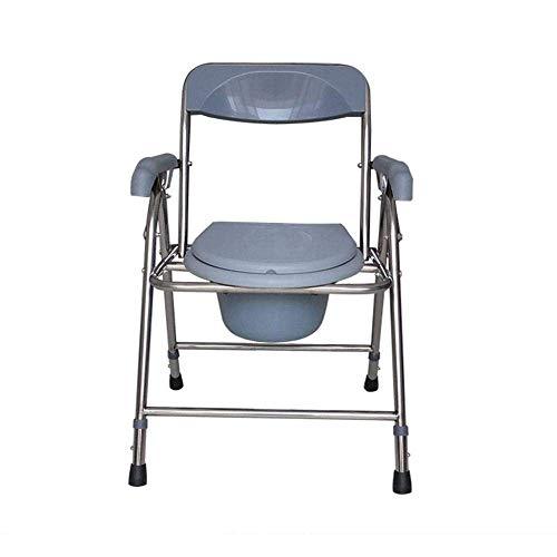 Wheelchair Badezimmer Stuhl 3-in-1 Kommode Aluminiumlegierung Rollstuhl Wohnmöbel wasserdichte Ältere Sicherheit Klapp Toilette Duschsitz -