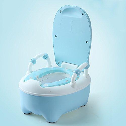 Kindertoilette Weibliches Babytoiletten-Toilettenschemel-Säuglingsschub-Urinal Männliches Kind Töpfchen (Farbe : Blue)