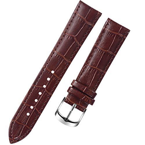 8 10 12 14 15 16 Genitalsit-Watchstrap-Lins89 17 18 19 20 mm Armbanduhr Frauen Uhrenarmband aus echtem Leder Armband Damen rot Weiss schwarz