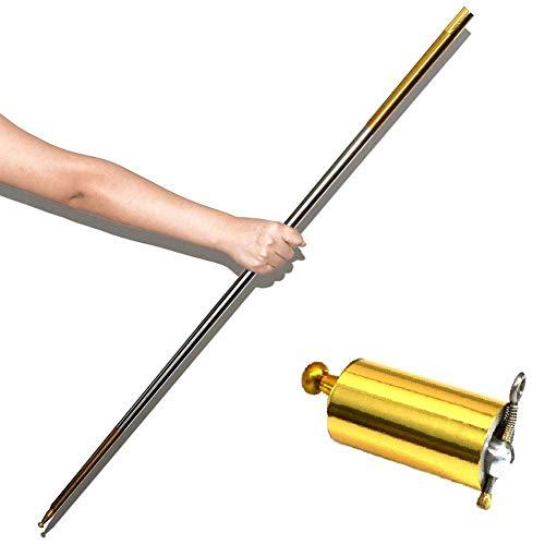 CloudWhisper Faltbarer Stick, Requisiten, Steeliest Magic Zauberstab Tricks Toys, goldfarben
