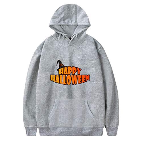 Xmiral Kapuzenpullover Herren Damen Happy Halloween Buchstabe Gedruckte Paare Sweatshirt mit Kapuze Hoodie Pullover Party Langarmshirt Kostüm(b - Minion Paare Kostüm