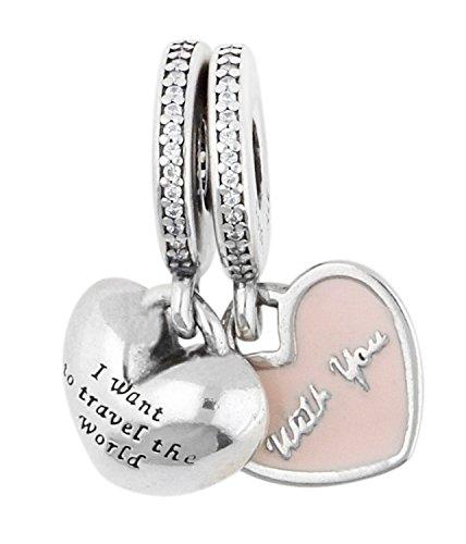 Pandora donne-perlina viaggia per il mondo con te 925 argento zircone - trasparente 791717cz