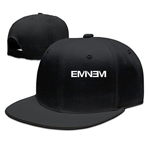Hittings Men's Eminem Rap Style Flat Baseball Caps Black