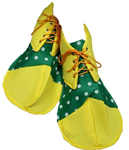 petitebelle gelb grün Polka Dots Soft Jumbo Clown Schuhe Erwachsene Kostüm