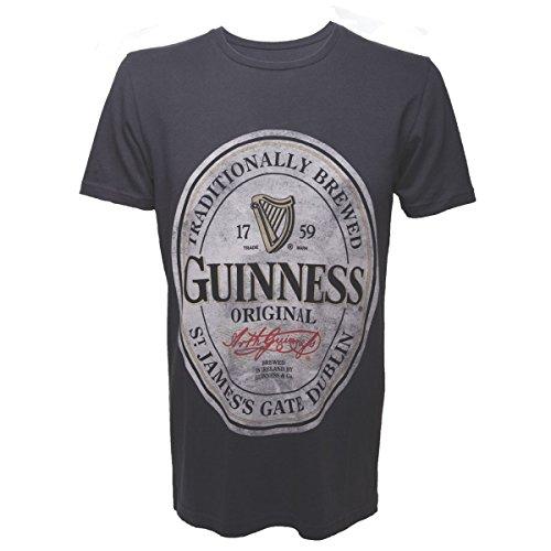 Guinness - M - Gris - Men's T-Shirt
