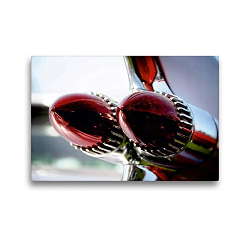 Calvendo Premium Textil-Leinwand 45 cm x 30 cm quer, Oldtimer Backlights | Wandbild, Bild auf Keilrahmen, Fertigbild auf echter Leinwand, Leinwanddruck: Cadillac DeVille 1959 Mobilitaet Mobilitaet