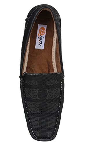 Digni Mocassins Hommes Chaussures Casual Party Tenue de soirée Slip On Driving Slipper Noir