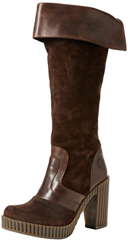 FLY London Geli742fly, Bottes Classiques Femme Marron (Expresso/dk.brown/expresso 001)