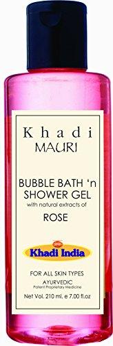 Khadi Rose Shower Gel - Herbal Skincare - SLES & Paraben Free - 210 ml