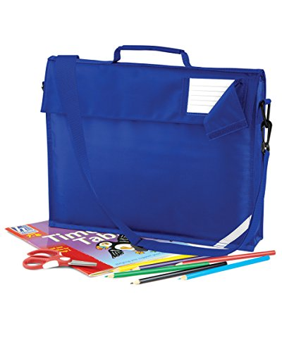 JUNIOR BOOK BAG SCHOOL BAG WITH STRAP - 5 COLOURS (BRIGHT ROYAL)