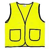 Kinder Warnwesten Hohe Sichtbarkeit Sicherheitsweste Reflektierende Westen Klettverschluss - Fluoreszenz Gelb Größe S