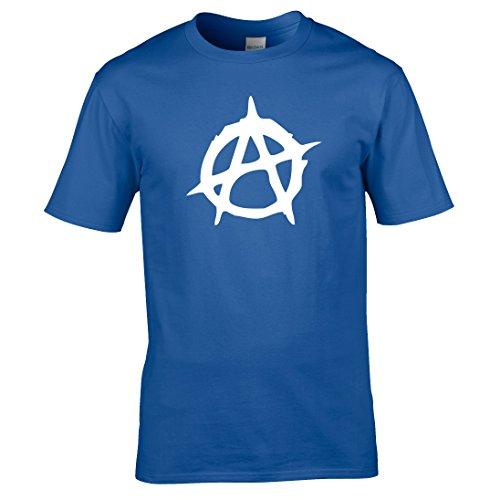Naughtees Strampler-Anarchie T-Shirt. Für Festivals, Clubbesuch oder, dass Retro Punk vibe. Blau - Königsblau