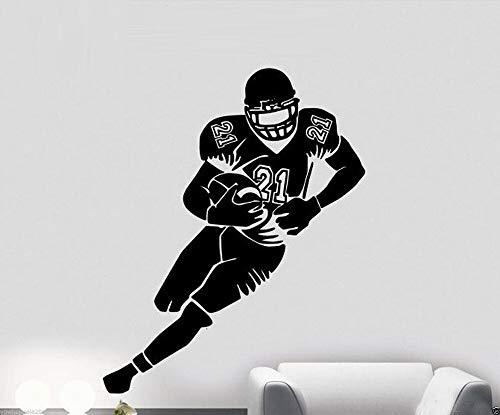 Kühle NFL Rugby unionSoccer Sporting Vinyl Kunst Wandtattoo Für Kinder Jungen Schlafzimmer Wandaufkleber 50 * 60 cm