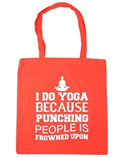 hippowarehouse-i-do-yoga-because-punching-people-is-frowned-upon-tote-shopping-gym-beach-bag-42cm-x3
