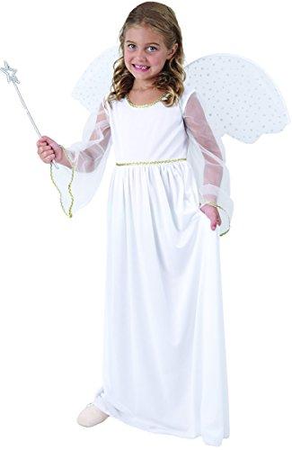 Weißes Engel Kostüm für Mädchen 140/152 (10-12 (Kostüm Mädchen Engel Für)