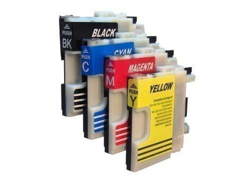 4 Druckerpatronen für Brother mit freier Farbauswahl LC980 LC1100 DCP-145C DCP-165C DCP-185C DCP-195C DCP-365CN DCP-375CW DCP-385C DCP-395CN DCP-585CW DCP-J715W DCP 6690CW MFC-250C MFC-255CW MFC-290C MFC-295C MFC-295CN MFC-355CW MFC-490CN MFC-490CW MFC-J615W MFC-670CDW MFC-790CW MFC-795CW MFC- 930CDN MFC-990CW MFC-930CDWN MFC-5490CN MFC-5890CN MFC-6490CN MFC-6490CW MFC-6890CN MFC-6890CDW MFC-5895CW -