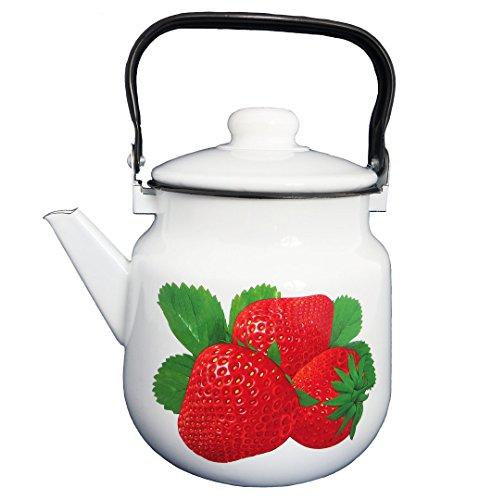 Emaille Teekanne Kaffeekanne 3,5 Liter / Retro Nostalgie Geschirr