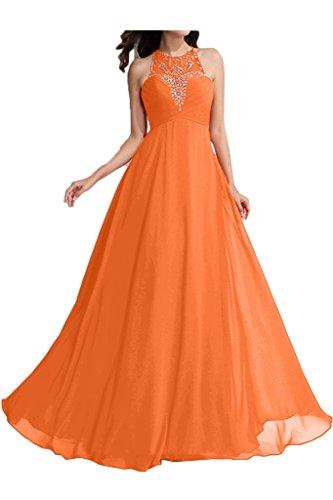 ivyd ressing perline donna Fashion A-line di girocollo Fest Abito Party abito da sera Orange