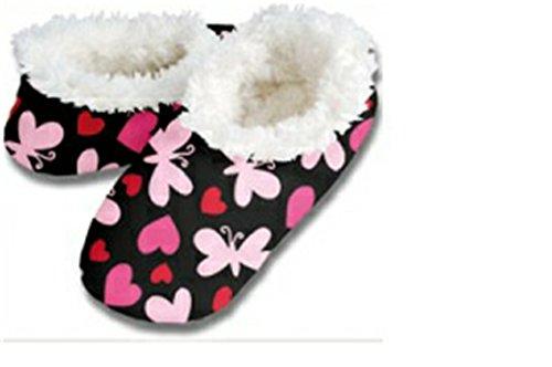 snoozies kuschelig warme Hausschuhe Schmetterling