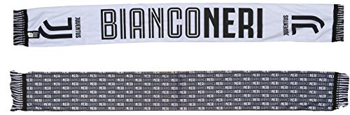 Bufanda Juventus Juve oficial ligera de poliéster 100% blanca