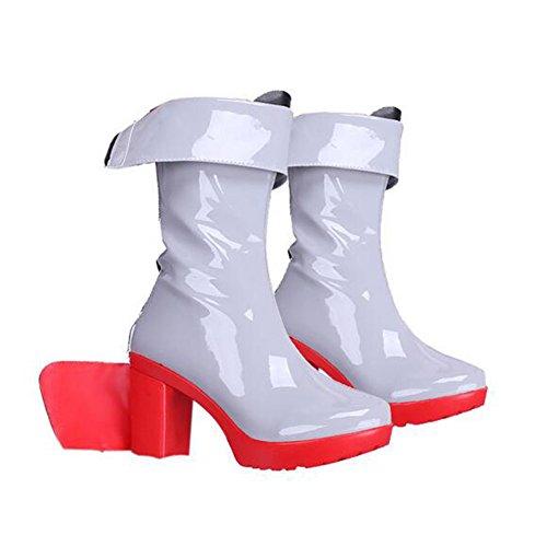 bsatz der Kurzen Stiefel-Frauen Hinterer Reißverschluss COS Kostüm,White,36 (Classic White Mädchen Kostüm)