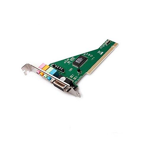 GiXa Technology PCI 3D Sound Card / Audio Karte mit Gameport 4 Kanal 5.1 Dolby Digital Surround Soundkarte für PC / Computer