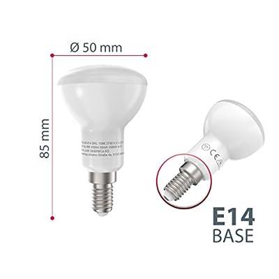 B.K.Licht LED Leuchtmittel 6W E14 LED Lampen 450lm Warmweiß, Ersatz für 60W Glühlampen, 2700K, LED Birnen 5er Pack von B.K.Licht