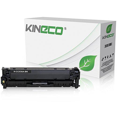 Kineco Toner kompatibel zu HP CC530A Color LaserJet CP 2000 2020 Series 2025 X 2024 2026 2027 DN N CM 2300 Series 2720 2320 FXI CB CBB CI EB EBB EI N NF WB WBB WI MFP 2323 -304A - Schwarz 3.500 Seiten (Hp Toner Cc530a)