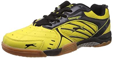Slazenger Men's Flash Yellow and Black Badminton Shoes - 7 UK