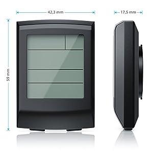 CSL - Fahrradcomputer kabellos | Fahrradtacho / Radcomputer / Tachometer | 13 Funktionen / Temperaturanzeige in °C | Reed-Sensor | inkl. Kabel und Befestigungsmaterial | Hintergrundbeleuchtung | IP65 by CSL-Computer