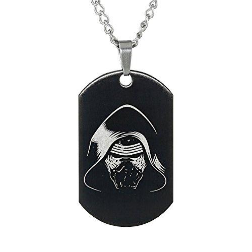 Star Wars Kylo Ren Dog-Tag Kette 56 cm schwarz silber (Star Dog Wars)