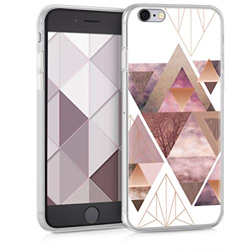 kwmobile Apple iPhone 6 / 6S Hülle - Handyhülle für Apple iPhone 6 / 6S - Handy Case in Rosa Rosegold Weiß